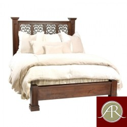 Solid Reclaimed Wooden Handmade Carvin Design King/Queen Size Bed