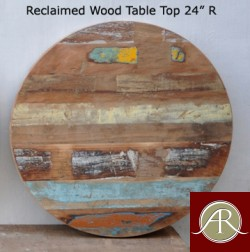 """Reclaimed Wood Round Table Top 24"""""""