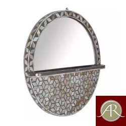 Round Mother Of Pearl Handmade Antique Wall Mirror