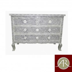 Bone Inlay Handmade Antique Home Decor Furniture Sideboard