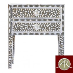 Bone Inlay End Table