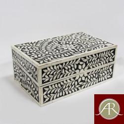 Grey Bone Inlay Box-Handmade