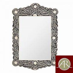 Handmade Antique Style Mother of Pearl Inlay Mirror