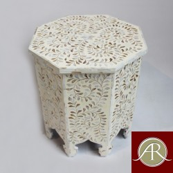 Mother Of Pearl Wooden Modern Antique Handmade Stool