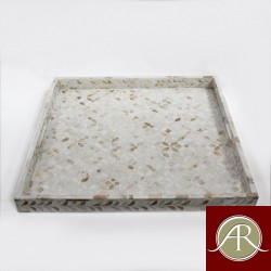 Mother of Pearl Inlay White Decorative Tray