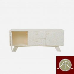 Bone Inlay Wooden Modern Antique Handmade Media Console