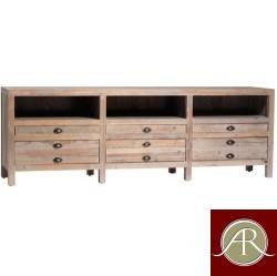 Rustic Solid Reclaimed Wooden Modern Antique Handmade Media T.V Unit