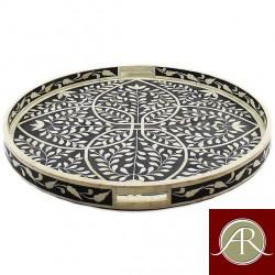 Handmade Bone Inlay Tray | Coffee Table Tray