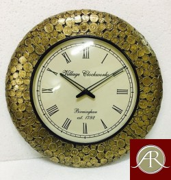"18"" Antique Coin Antique Wall Clock,(Antique Gold)"