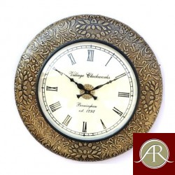 "18"" Antique Brass Clock by Handcrafted Wall Clock"
