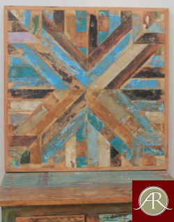 """Square 30""""x30"""" Reclaimed Wood Table Top"""