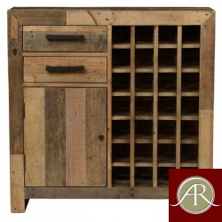 Rustic Solid Reclaimed Wooden Modern Antique Handmade Wine Cabinet