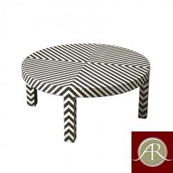 Bone Inlay Wooden Modern Antique Handmade Coffee Table