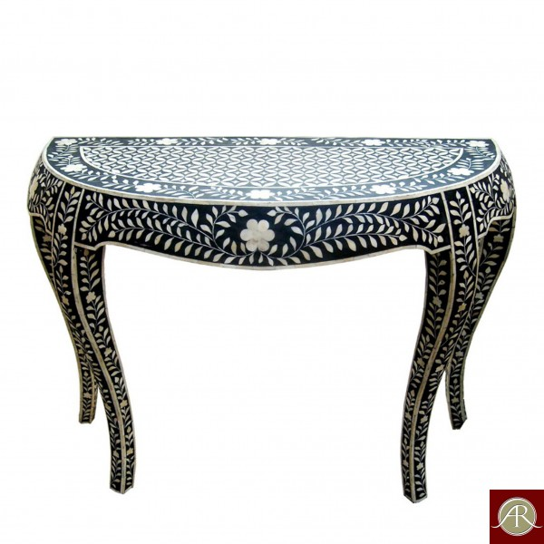 Bone Inlay Handmade Antique Home Decor Furniture Console table