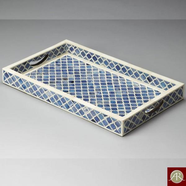 Bone Inlay  Handmade Antique Home Decor Furniture  Tray