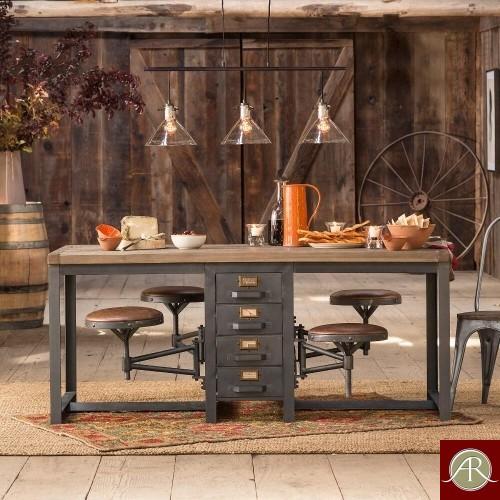 Cafeteria Table Antique Rustic
