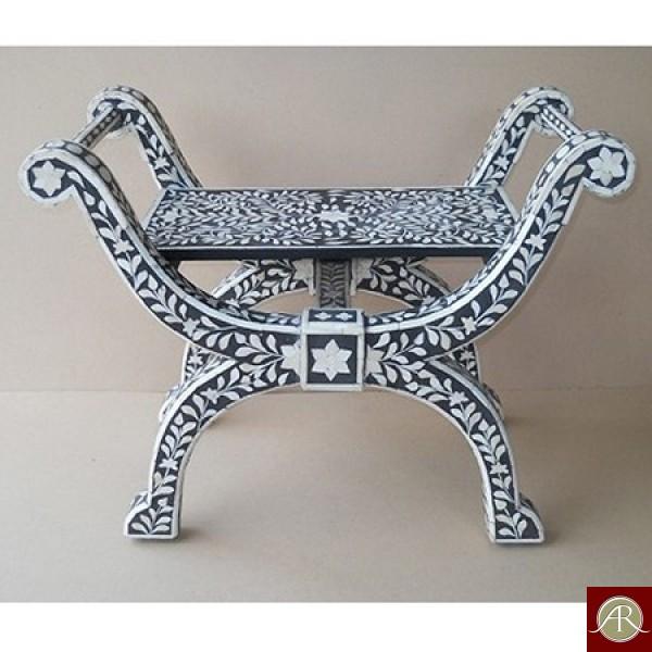 Bone Inlay Wooden Modern Antique Handmade Chair
