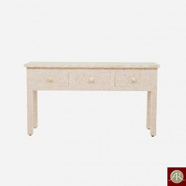 Bone Inlay Wooden Modern Antique Handmade Console Table