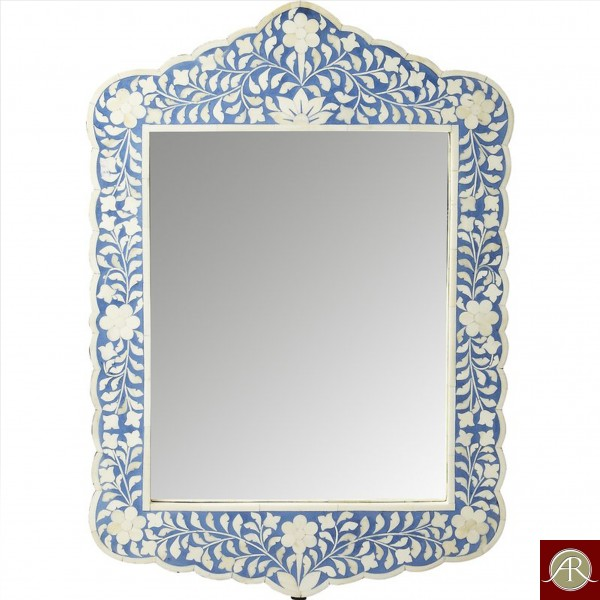 Bone Inlay Wall Mirror Frame  Handmade Antique Home Decor Furniture