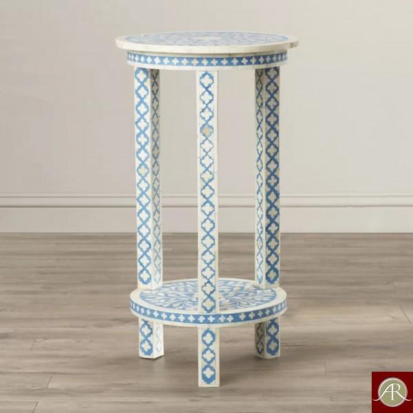 Bone Inlay Handmade Antique Home Decor Furniture Stool