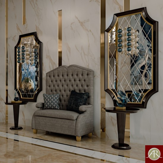 Luxury Royal Collection High Back Bench
