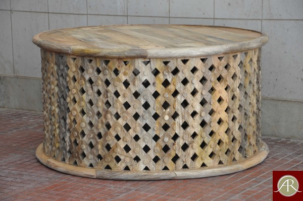Reclaimed Wood carved  Coffee Table