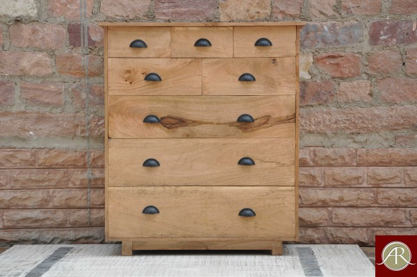 Reclaimed Wood carved Chest Of Drawer
