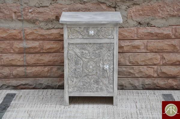 Reclaimed Wood carved Bedside