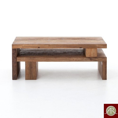Rustic Solid Reclaimed Wooden Modern Antique Handmade Nesting Coffee Table