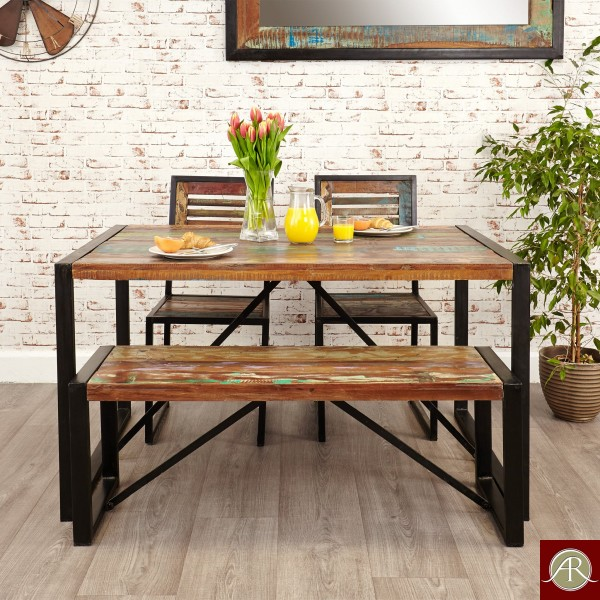 Reclaimed Rustic Wood Dining Table