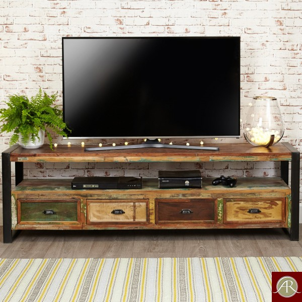 Reclaimed Wood Rustic TV Cabinet