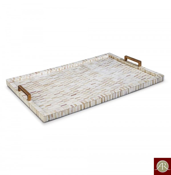 Handmade Bone Inlay Tray   Coffee Table Tray