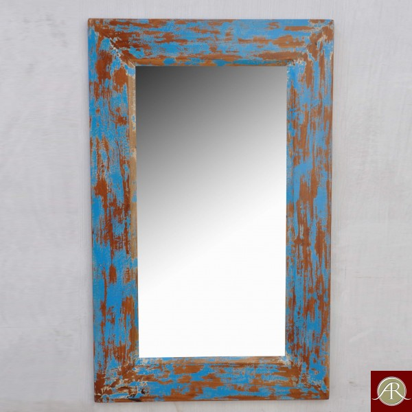 Wood Mirror Frame distressed Style Home Decor Mirror reclaimed Wood