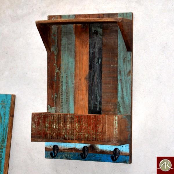 Relaimed Wood Rustic Wall Self