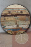 Round Reclaimed Wood Table Top